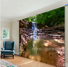 3D Creek Lake 6 Blockout Photo Curtain Printing Curtains Drapes Fabric Window AU