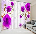 3D Bright Roses Blockout Photo Curtain Printing Curtains Drapes Fabric Window AU