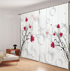 3D Red Flower 2 Blockout Photo Curtain Printing Curtains Drapes Fabric Window AU