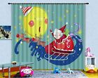 3D Funny Santa Blockout Photo Curtain Printing Curtains Drapes Fabric Window AU