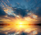 3D Sunrise on the lake1 WallPaper Murals Wall Print Decal Wall Deco AJ WALLPAPER