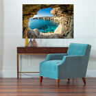 3D Blue water, cave 25 Wall Stickers Vinyl Wall Murals Print AJSTORE US
