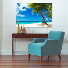 3D Sea, coconut trees 133 Wall Stickers Vinyl Wall Murals Print AJSTORE US