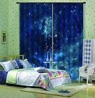 3D Space Blue 0549 Blockout Photo Curtain Print Curtains Drapes Fabric Window UK