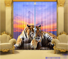 3D Tiger View 0333 Blockout Photo Curtain Print Curtains Drapes Fabric Window UK