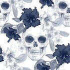 3D Flowers Skulls 0101 WallPaper Murals Wall Print Decal Wall Deco AJ WALLPAPER