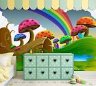 3D Color Mushrooms 599 WallPaper Murals Wall Print Decal Wall Deco AJ WALLPAPER