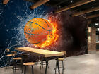3D Fire Basketball 406 WallPaper Murals Wall Print Decal Wall Deco AJ WALLPAPER