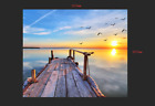 3D Sunrise beach 2 WallPaper Murals Wall Print Decal Wall Deco AJ WALLPAPER
