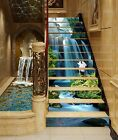 3D Cranes Falls 30 Stairs Risers Decoration Photo Mural Vinyl Decal Wallpaper US