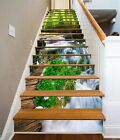 3D River Bridge 29 Stairs Risers Decoration Photo Mural Vinyl Decal Wallpaper US