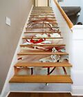 3D Red Lotus 232 Stairs Risers Decoration Photo Mural Vinyl Decal Wallpaper US