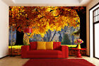 Huge 3D Autumn Trees Sunshine Wall Paper Wall Print Decal Wall Deco Indoor wall