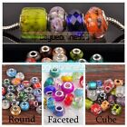 5Pcs European Charms Murano Lampwork Glass Loose Big Hole Beads Wholesale