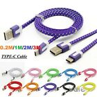 0.2M 1M 2M 3M Braided Flat Nylon USB-C 3.1 Type C To USB 3.0 Date Charger Cable