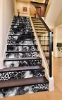 3D Animal Feathers Stair Risers Decoration Photo Mural Vinyl Decal Wallpaper UK
