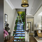 3D Forest Falls 411 Stair Risers Decoration Photo Mural Vinyl Decal Wallpaper UK