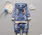 2pcs Kids Baby clothes baby clothes denim outfits hoodie top jeans outfits