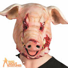 Adult Severed Pig Over Head Mask Halloween Horror Animal Fancy Dress Accessory