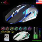 2.4GHz Wireless Rechargeable USB Optical Ergonomic LED Light Gaming Mouse