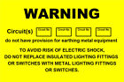 Warning Circuits Labels / Stickers (76 x 51mm) non rip -Electrical labels