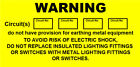 Warning Mini Circuits Labels / Stickers (70 x 30mm) non rip -Electrical labels