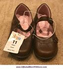 Circo NWT Brown FAUX LEATHER MARY JANE FLORAL BUTTERFLY DRESS SHOES US 9 11