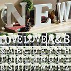 26 Freestanding Alphabet A-Z Wood Wooden Letter Hanging Wedding Home Party Decor