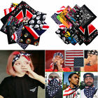 WELL Cotton Paisley Bandanas Head Wrap Scarf Wristband Handkerchief Double Sided