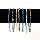 9 in Petite Multi-color Crystal Beads Stretch Ankle Bracelet  image