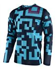 Troy Lee Designs 2018 GP Air Youth Maze Turquoise Navy Race Jersey Shirt Motocro