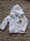 BABY BOYS / GIRLS UNISEX LOVELY WHITE HOODED CARDIGAN age 0-3  3-6  6-9 MONTHS