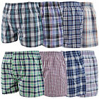 12 Mens Woven Classic Loose Style Boxer Shorts Cotton Underwear / All Sizes