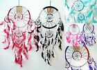 Dream Catcher - Coloured and Silver Ring and Web - 50cm Drop - Free P&P (UK)