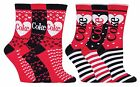 Coca Cola - 3 Pack Womens Striped Heart Pattern Novelty Cotton Socks in Gift Box $17.01  on eBay