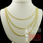 """New Mens Womens 100% 10k Yellow Gold 2.5mm Cuban Curb Link Necklace Chain 22-26"""""""
