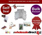'CLEAR' PVC GRIP SEAL BAGS - All Sizes Available -Great value & Quality A