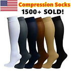 6 Pairs Compression Socks Stockings Graduated Support Men's Women's S-XL