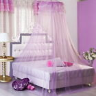 Lace Bed Mosquito Netting Mesh Canopy Princess Round Dome Bedding Net MultiColor