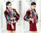 Women Russia Farm Raccoon Fur Coat Overcoat 3/4 Sleeve Hot Series Vests Jackets