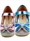 Girls Dress Shoes Wedding Party Sparkle Metallic Mary Jane Style Toddler Size