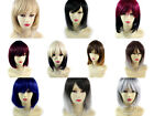 Wiwigs ® Gorgeous Short Bob Style Wigs Blonde Red Black Grey Dip-Dye Ombre Hair