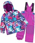 Deux par Deux Girls' 2-Piece Snowsuit Nap on the Floor Purple, Sizes 4-14