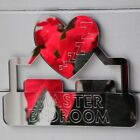 Master Bedroom Heart ZZzzzz Acrylic Mirrored Door Sign