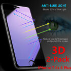 2X Full Cover Anti Blue-Ray 3D Tempered Glass Screen Protector for iphone 7Plus