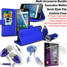 Quality Leather Wallet Protection Phone Case Cover✔Accessory Pack✔Blue