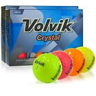 2 Dozens New Volvik Crystal 3-piece Golf Balls Select Colors of Each Dozen