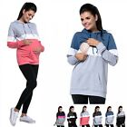 Zeta Ville - Women's breastfeeding top sweatshirt hoodie - nursing panel - 503c