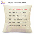 "DUCK FEATHER CUSHION PADS INNERS INSERTS SCATTERS  FILLERS 16"" 18"" 20"" 22"" 24"""