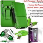 Quality Vertical Belt Clip Pouch Holster Flip Case Holder✔Accessory Pack✔Green günstig